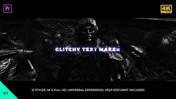 Thumbnail for Glitchy Text Maker Mogrt
