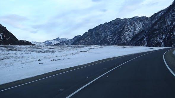 Thumbnail for POV Mountain Road Breathtaking Mountain Range Full of Pines View