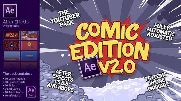 Thumbnail for The YouTuber Pack - Comic Edition V2.0