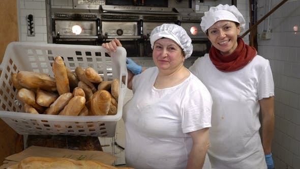 Thumbnail for Traditional Italian Bakery. Mom and Daughter Bakers in Their Own Bakery
