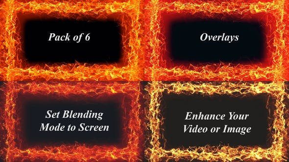 Thumbnail for Fire Frame Abstract Backgrounds Loops