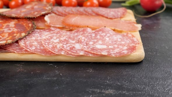Thumbnail for Variety of Sliced Italian Salami