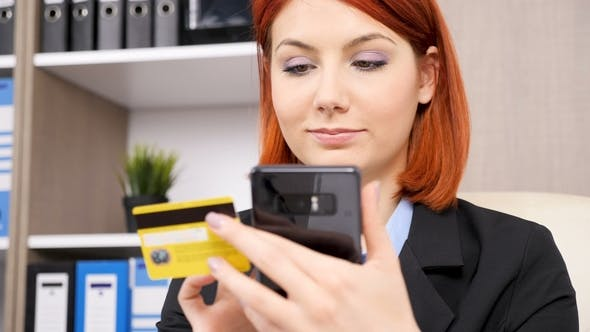 Thumbnail for Businesswoman in Formal Wear Shopping Online on Her Smartphone