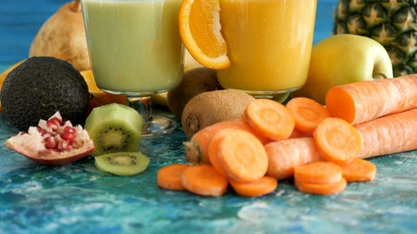 Thumbnail for Two Glasses with Delicous Detox Juice