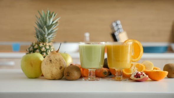 Thumbnail for Two Glasses with Healthy and Organic Smoothies
