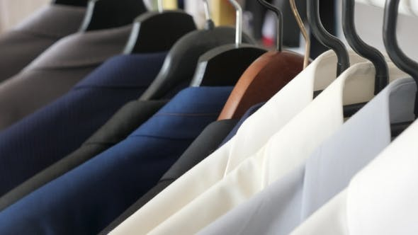 Thumbnail for Hanger with Male Busines Suits and Shirt