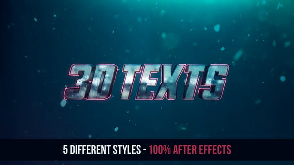 Thumbnail for 3D Texts Effects - No Plugins