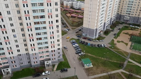 Thumbnail for Top of Courtyard of Residential Building in Moscow, Russia