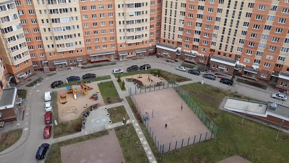 Thumbnail for Courtyard of Residential Building in Moscow, Russia.