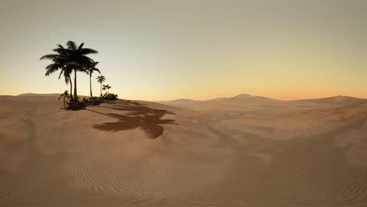 Thumbnail for Vr 360 Camera Moving Above Desert