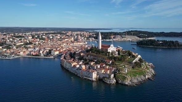 Thumbnail for Aerial View of Rovinj, Croatia