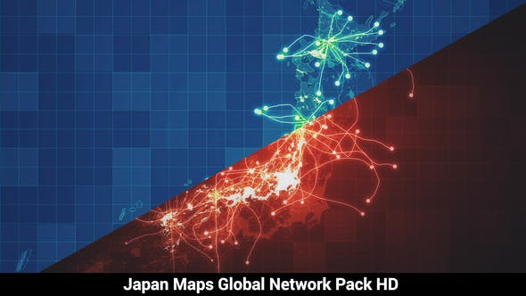 Thumbnail for Pack of 3 Japan Maps Network HD