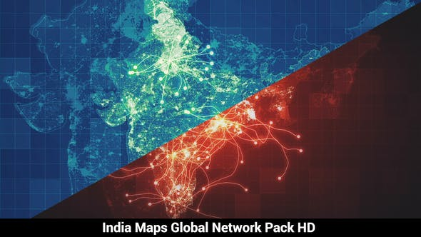 Thumbnail for Pack of 3 India Maps Network HD