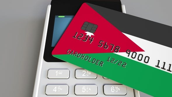 Thumbnail for POS Terminal with Credit Card Featuring Flag of Jordan