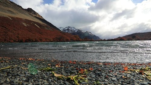 Strong Wind on the Madre Lake. Argentina, Patagonia.