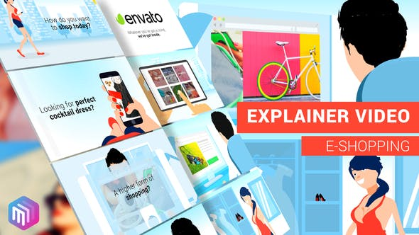 Thumbnail for Explainer Video |  E-Commerce, APP, Online Services Version
