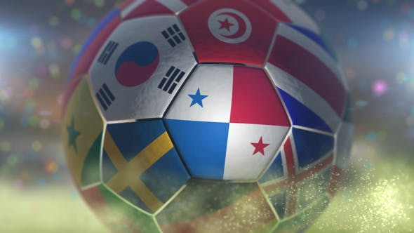 Thumbnail for Panama Flag on a Soccer Ball - Football in Stadium
