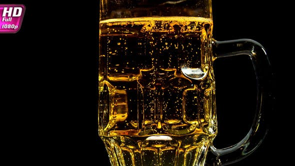 Thumbnail for A Mug of Beer on a Black Background
