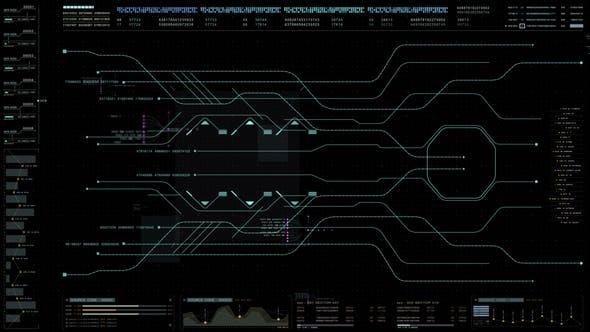 Futuristic User Interface Head Up Display 04