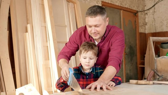 Thumbnail for Family, Carpentry, Woodwork and People Concept