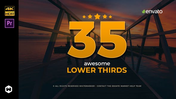 Cover Image for Awesome Lower Thirds for Premiere