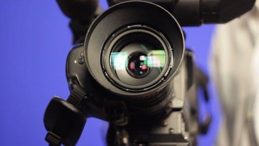 Thumbnail for TV Studio Camera Pan With Operator