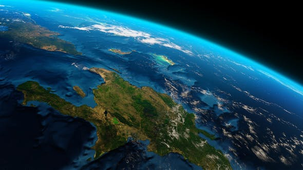 Thumbnail for 4K Earth Close Up Greater Antilles Caribbean Sea