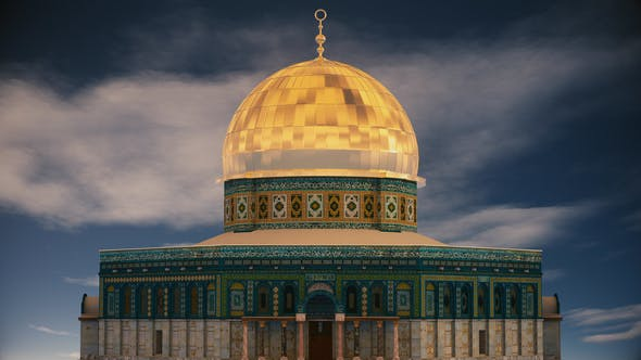 Cover Image for 4K Dome of Rock Mosque Al Quds Orbit