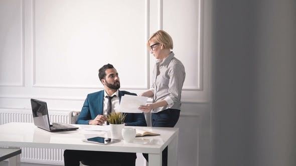 Head of Company Talks To Personal Assistant
