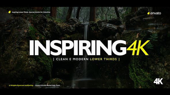 Thumbnail for Inspiring Lower Thirds for Premiere