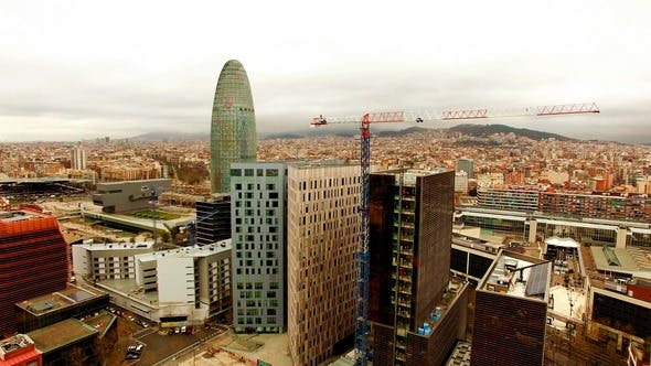 Thumbnail for Aerial View of Agbar Tower with Barcelona Skyline