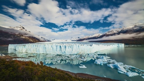 Thumbnail for Glacier Perito Moreno National Park in Autumn in Argentina, Patagonia