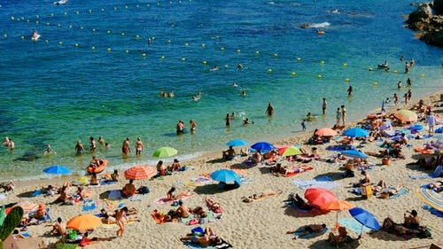 Holiday on the Beach in Spain in Summer