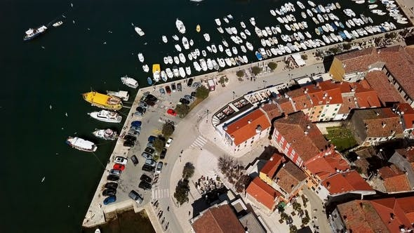 Cover Image for Aerial Panorama of Rovinj, Croatia