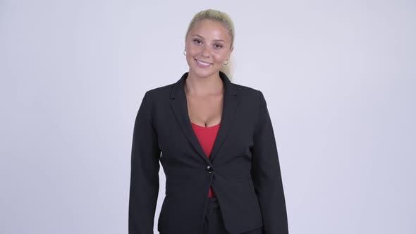 Cover Image for Young Happy Blonde Businesswoman Smiling