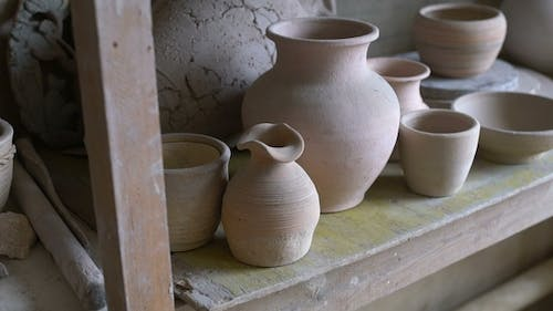 Workshop with Tools, Ceramics and Clay