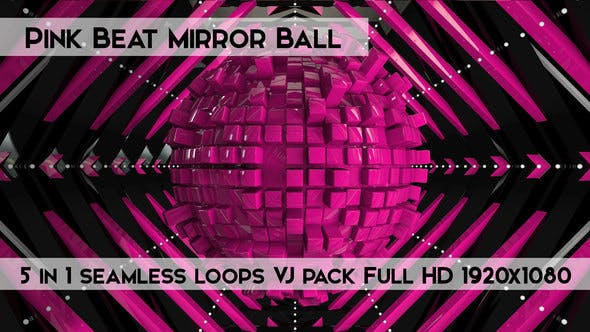 Thumbnail for Pink Beat Mirror Ball Vj Loops