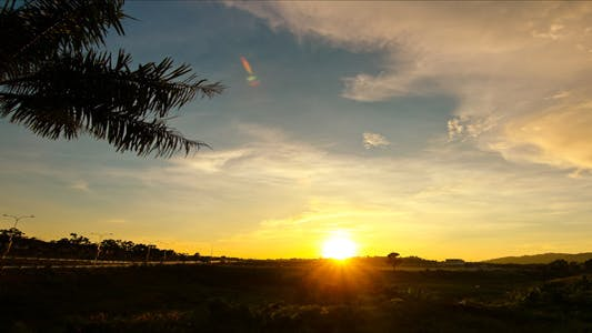 Thumbnail for Tropical Bright Sunset Time Lapse
