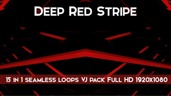 Thumbnail for Deep Red Stripe Vj Loops Pack