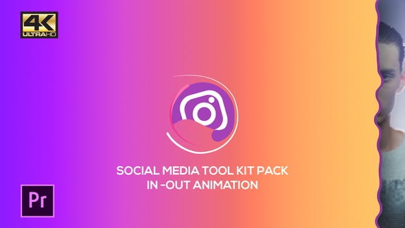 Thumbnail for Social Media Pack Toolkit | MOGRT for Premiere Pro