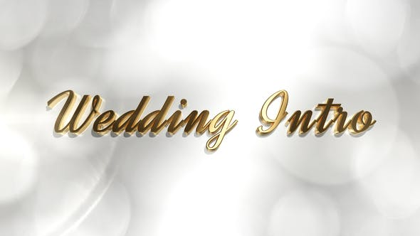 Thumbnail for Wedding Intro