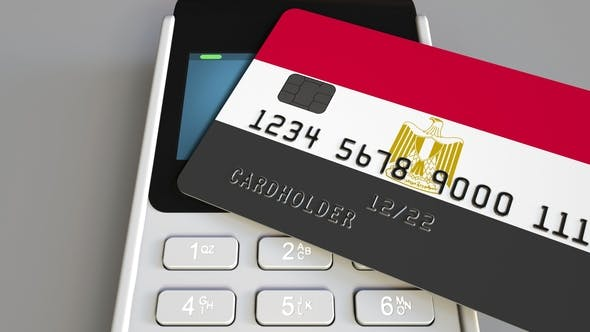 Thumbnail for POS Terminal with Credit Card Featuring Flag of Egypt
