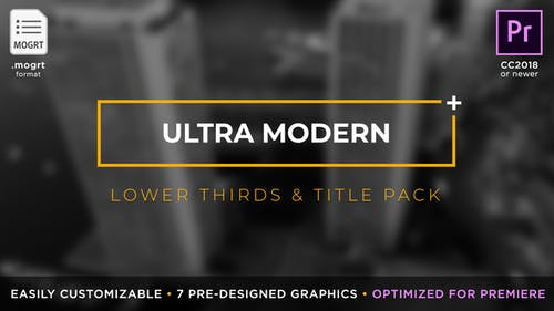 Ultra Modern Titles & Lower Thirds   MOGRT for Premiere Pro