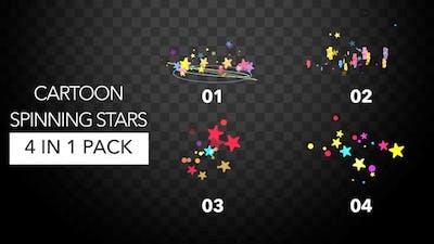 Cartoon Spinning Stars Pack