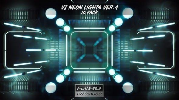 Thumbnail for VJ Neon Lights Ver.4 - 10 Pack
