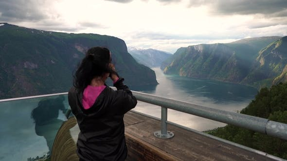 Thumbnail for Stegastein Lookout Beautiful Nature Norway Observation Deck View Point
