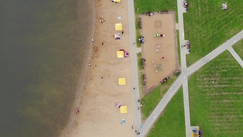 Beach near Pond in Zelenograd in Moscow