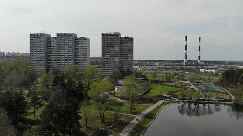 View of Zelenograd Administrative District of Moscow, Russia