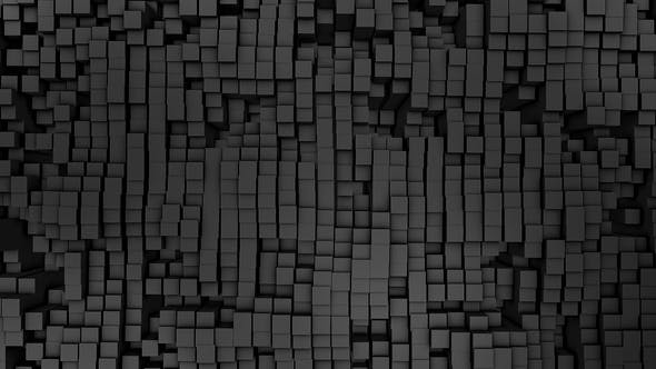 Thumbnail for Digital Background of the Many Black Squares
