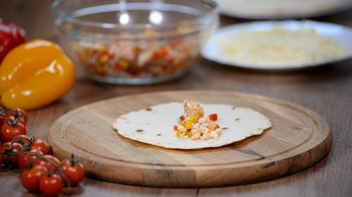 Köstliche mexikanische Enchilada. Mexikanisches Essen. Kulinarische Workshops.